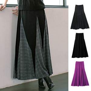 [Ranan] Base-Paneled Flared Maxi-Skirt / 2020 Spring Lineup, Ladies