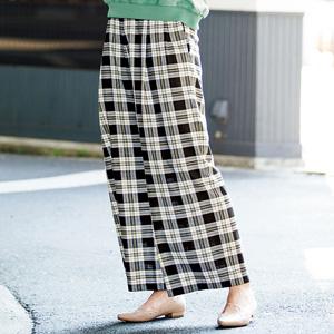 [Ranan] Plaid Wide Pants / New Arrival Spring 2020, Ladies