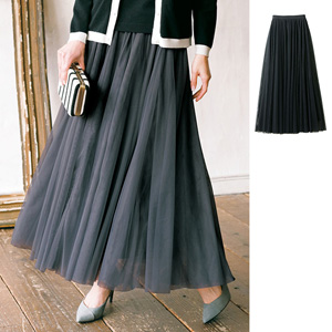 [Ranan] Switch Tulle Maxi Skirt / 2020 Spring Lineup, Ladies