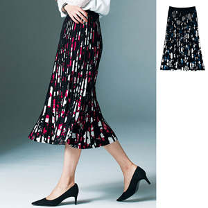 [Ranan] [Made in Japan] Knit Print Floral Skirt / New Arrival Spring 2020, Ladies