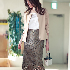 [Ranan] Ribbon Lace Skirt Set Suit / New Arrival Spring 2020, Ladies