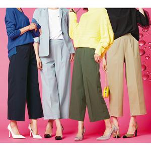 [Ranan] Wide Cropped Pants Water & Pollen Repellency / New Arrival Spring 2020, Ladies