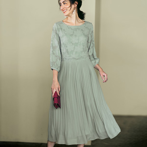 [Ranan] Jacquard Pleated Dress / New Arrival Spring 2020, Ladies