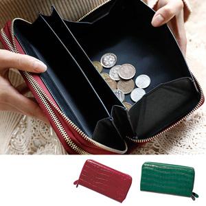 [Ranan] Plenty of Card Pockets Cowhide Leather Embossed Wallet / 2020 Spring Lineup, Ladies