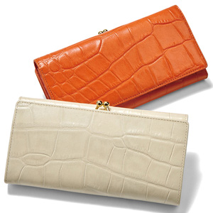 [Ranan] Genuine Leather Crocodile Clasp Long Wallet / New Arrival Spring 2020, Ladies