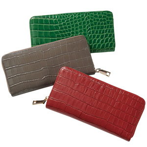 [Ranan] Split Leather Croc-Embossed Long Wallet / 2020 Spring Lineup, Ladies