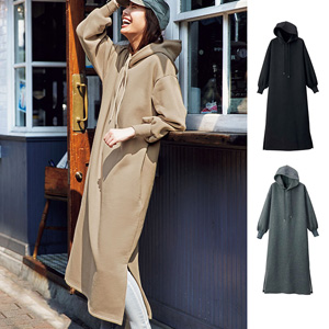[Ranan] Brushed Long Dress with Hood / New Arrival Spring 2020, Ladies