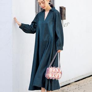 [Ranan] Denim Flare Dress / New Arrival Spring 2020, Ladies
