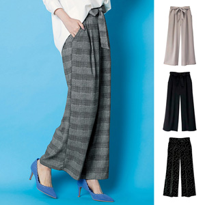 [Ranan] Wide Pants with Beautiful Ribbon  / New Arrival Spring 2020, Ladies