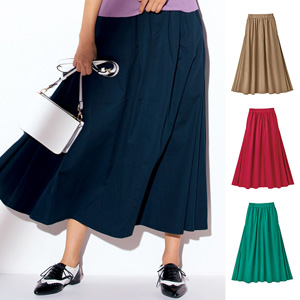 [Ranan] 100% Cotton Flare Maxi Skirt / New Arrival Spring 2020, Ladies