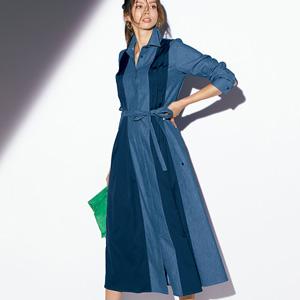 [Ranan] Switch Design Denim Dress / New Arrival Spring 2020, Ladies