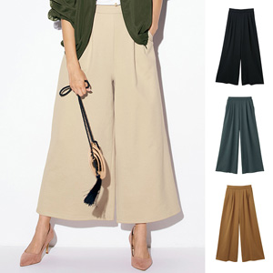 [Ranan] Fleece Gaucho Pants (Long Length) / 2020 Spring Lineup, Ladies