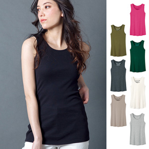 [Ranan] 100% Cotton Soft Tank Top (Long Length) / 2020 Spring Lineup, Ladies