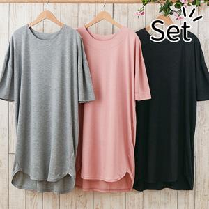 [Belluna] Loose T-Shirt Dress (3 colors) / New Arrival Spring 2020, Inner
