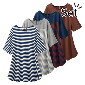 [Belluna] Dyed Knit Striped Tunic (4 colors) / New Arrival Spring 2020, Inner