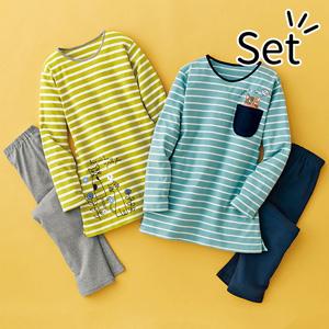 [Belluna] 100% Cotton Cat Striped Pajamas (2 pairs) / New Arrival Spring 2020, Inner