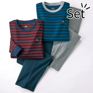 [Belluna] 100% Cotton T-type Stiped Pajamas (2 pairs) / New Arrival Spring 2020, Inner