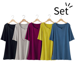 [Belluna] Great Value! Heart Neck Tunic (5 colors) / New Arrival Spring 2020, Inner