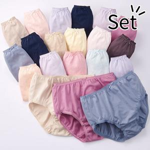 [Belluna] Bargain! 100% Cotton Deep Rise Panties (20-Pack) / 2020 Spring Lineup, Inner