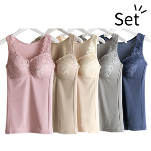[Belluna] [5 Colors] Wear them Everyday! Cotton 100% Elegant Bra Camisole/ 2020 Spring Lineup, Inner