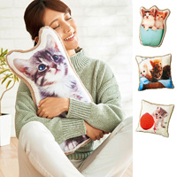 [Belluna] Fluffy Cat Cushion / Fall & Winter 2018 New Item, Interior