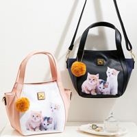 [Belluna] Cat Print 2WAY Bag / Fall & Winter 2018 New Item, Interior