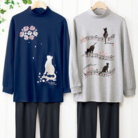 [Belluna] NEW Black Cat Relax Wear (2-Pack) / Fall & Winter 2018 New Item, Interior