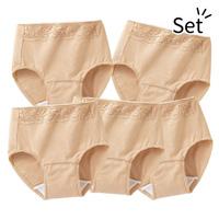 [Belluna] High-Rise Security Panties, Same-Color 5-Pack  / 2018 Fall & Winter Lineup, Interior