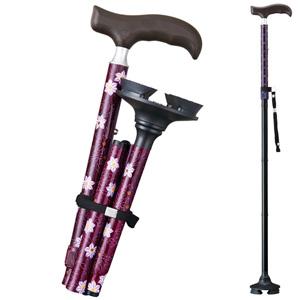 [Belluna] Easy to Grip 4-point Walking Stick Cane (with storage bag)