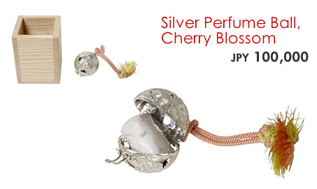 Silver Perfume Ball, Cherry Blossom